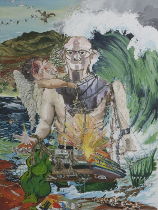Toy Painting (Christmas Island Action Figure) 2009, Oil on Canvas 122 x 91cm
