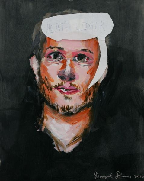 Celebrity Dhead 2011, acrylic on board 40 x 30cm