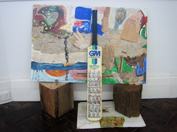 Untitled 2007, mixed media 85 x 90cm