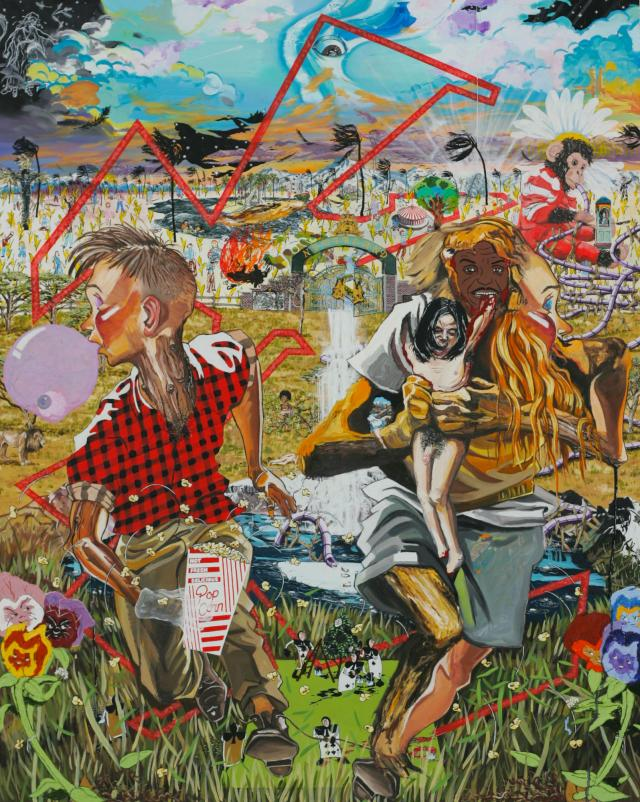 Toy Painting (Alice in Neverland) 2010, Oil on linen 152 x 121cm