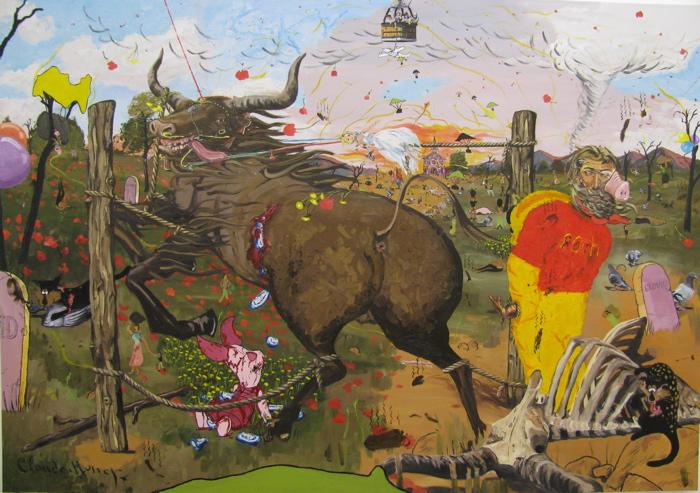 Toy Painting (Monet but Funner) 2009, oil on linen 106 x 152cm